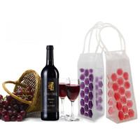 Wholesale Picnic Wine Cooler - Rapid Ice Wine Cooler PVC Beer Cooler Bag Outdoors Ice Gel Bag Picnic CoolSacks Wine Coolers Chillers Frozen Bag Bottle Cooler 200 OOA2138