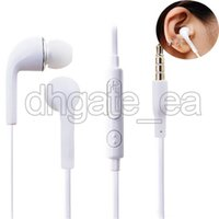 Wholesale S4 Hand - Headphones for S4 S6 S7 3.5mm In ear earphones earbuds J5 headset Hands-free earphone with Mic control For Samsung s4 cell Phones