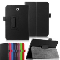 samsung i̇çin tab4 tablosu toptan satış-2 Kat Standı Folio Deri Akıllı Kapak Kalem Tutucu Ile Otomatik uyku Uyandırma Samsung GALAXY Tab 4 Tab4 8.0 için Flip Case T330 Pro 8.4 inç T320