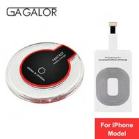 Wholesale Iphone Wireless Charge Kit - GAGALOR For Apple iPhone 5 5S SE 6 6S 7 7 Plus Qi Wireless Charger Charging Kit for iPhone 8 8 Plus X all Qi device Phone Charger Pad