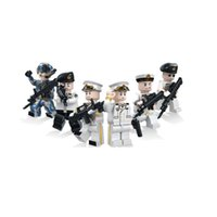 Unisex pacific war - 6pcs set Military The Pacific War Navy Soldier Army Soldier Building Blocks Bricks Toys Children Gift