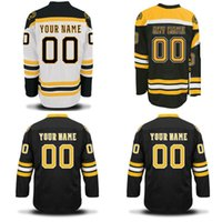 Wholesale boston logos resale online - Boston Bruins Jerseys S XL Personalized Customized Jerseys With Any Name and Any Number Stitched Embroidery Logos Hockey Jerseys