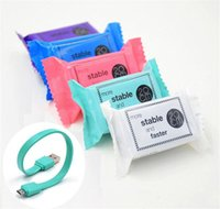 Wholesale Micro Power Bank - Candy Sugar 2A 20cm short Portable Mini Power Bank Cable Charging Lighting Cord TPE Micro USB Data Sync Charger Line for Samsung S7