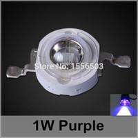 perles de puissance violet achat en gros de-50 Pcs / lot LED Puce Perles 1W Violet Haute Puissance LED Boules Pourpre Violet Source De Lumière LED Lampe Diode Émissive