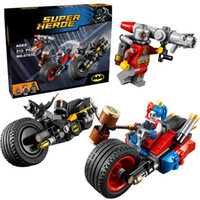 Wholesale Hero City - Lepin 07032 Super Heroes Batman Gotham City Cycle Chase building Blocks Bricks Toys Set Boy Game Compatible with Decool 76053
