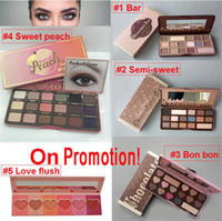 Wholesale Single Eye Shadow Makeup - TOP Quality !!!Brand Makeup Palette Sweet Peach Eye Shadow Chocolate Bar Eyeshadow with Bar semi Sweet Bon bon Smell Palette 16&18 colors