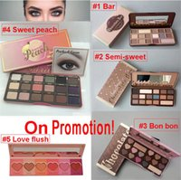Wholesale 16 color eye shadow resale online - TOP Quality Brand Makeup Palette Sweet Peach Eye Shadow Chocolate Bar Eyeshadow with Bar semi Sweet Bon bon Smell Palette color