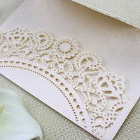 Wholesale Christmas Laser Cut Greeting Cards - Floral wed invitation card rustic Petals shaped festival greeting card laser cut wedding invitations party supplies card