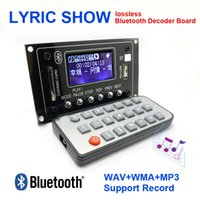 Venta al por mayor 12V Lyric Show Bluetooth MP3 Decodificación Junta USB / SD / AUX / FM DIY MP3 Decodificador bordo para coche digital LED Record MP3 KIT