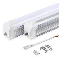 Wholesale Milky Tube - LED Integrated Tubes T8 4ft 2ft 1.2m 600mm 1200mm Tube Light 10W 22w LED Bulb Tube LED Lights Lamp SMD2835 Lighting Clear Milky Cover 85-265