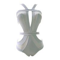 Wholesale sheer swimwear for women for sale - 2017 White sheer mesh splicing cut out sexy one piece swimsuit for women swimwear female bathing suit swim wear monokini V326