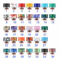Wholesale Drip Free E Cig - Colorful Turquoise Drip Tip Beautiful 510 Tophus Stone Wide Bore Mouthpieces Fit 510 RDA RBA Atomizers E Cig Free Ship