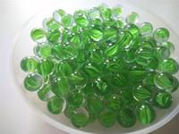 ingrosso pietra verde per la decorazione-Biglie di vetro 1,6 cm 8 petali Pachinko palla di vetro verde da parete giardino o decorazione pavimentazione pietra pedine pet cat giocattolo serbatoio di pesce Vaso Filler