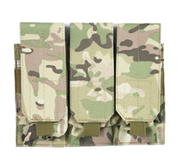 Wholesale Tactical Vest Bags - Outdoor Molle Tactical Triple Pouch Tool Dump Drop Bag Attact Vest