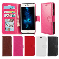 Wholesale White Pink Wallets - For Iphone 8 Wallet Case For Note 8 PU Leather Cases Iphone 7 Samsung S8 Case Wallet Back Cover Pouch With Card Slot Photo Frame Opp Bag