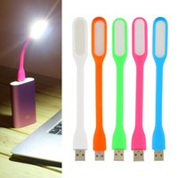 Wholesale Usb Light Computer Lamp - Flexible Ultra Bright Mini LED USB Read Light Computer Lamp For Notebook PC Power Bank Partner Computer Tablet Laptop 5 Colors
