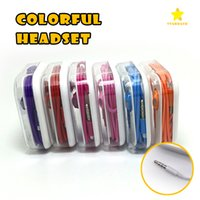 Wholesale Universal Volume Control - 3.5mm Earphone Universal Colorful Earbuds In-Ear Stereo Headphones with Mic Volume Control Earphone for Phone 5 6 6 Plus Samsung S7