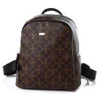 Wholesale Leather Backpack White Women - designer backpacks new arival brown white school bags fashion pu leather men bag backpack