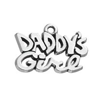 Wholesale Vintage Style Stamp - Vintage Style Stamped Message Daddy's Girl Ancient Silver Jewelry Findings Components Jewelry DIY Fit Necklace Bracelets