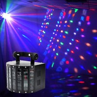 Wholesale Dmx Control Laser Light - Wholesale-Sound Activated DMX Control RGBW LED Stage Light For Disco Party DJ Beam Light Music Show Laser Projector Lighting Effect