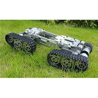 Wholesale Rc Crawler Kit - Wholesale- Alloy Metal Tank Chassis Tractor Crawler Balance Tank Chassis RC Tank Mount Truck Robot Chassis Arduino Car