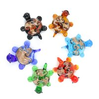 Wholesale Wholesale Murano Art Glass - Lampwork Glass Murano Tortoise Pendant decoration arts for chirldren necklace with different colors 12pcs pack MC0061