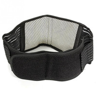 Wholesale Tourmaline Bands Wholesale - Wholesale- Tourmaline Self-heating Magnetic Therapy Waist Support Belt Belt Lumbar Back Waist Support Brace Double Banded Adjustable Size
