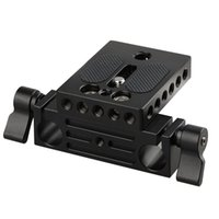 Wholesale 15mm Rod Baseplate - CAMVATE Camera Baseplate with 15mm Railblock fr DSLR Rig 15mm Rod Rail Support System