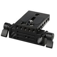 Wholesale Camera Rails - CAMVATE Camera Baseplate with 15mm Railblock fr DSLR Rig 15mm Rod Rail Support System