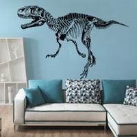 dinozor çıkartmaları toptan satış-9544 Aborjin Dinozorlar Duvar Sticker Hayvan Dinozor Siluet Mural Art Duvar Çıkartmaları Hayvanlar Duvar Sanat Mural Poster Ev Dekorasyon