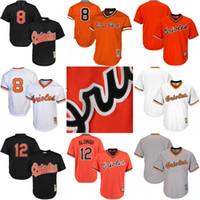 2e92d0caf Baltimore Orioles Throwback Jersey Cooperstown Collection Mens 8 Cal Ripken  Jr. 12 ...