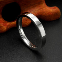 Wholesale High Polished Stainless Steel - 2017 Silver Color Stainless Steel Men's Fashion Man Ring Cool Man's High Polished Man's Wedding Ring