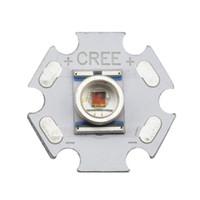 emissor led vermelho venda por atacado-Atacado-5PCS Cree XLamp XRE XR-E Q5 Vermelho 620-630NM 1W 3W LED Light Emissor Bulb montado em 16mm ou 20mm PCB