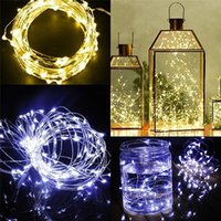 Lampe de Noël 2016 Lampe de Noël 3XAA Batterie Lumières de fête 2M 20LEDs 3M 30LEDs 5M 50LEDs LED Copper Wire Fairy String Lights Christmas Home Party
