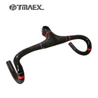 Wholesale Super Light Handlebar - TMAEX-PRO Super light Full Carbon Integrated Road Bicycle Handlebar Road Carbon Handlebar With Stem Cycling Bike Parts 275G