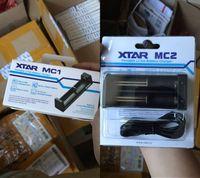 schnell li großhandel-Authentic Xtar MC1 MC2 Ladegerät 18650 Akku Single Slot Charger Schnellladefunktion 18350 18550 18650 16650 Li-Ionen-Akkus Ni-MH-Akku