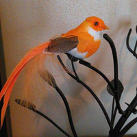 Wholesale Animal Craft Kits - 12*3CM 12PCS Decorative Birds Artificial Foam Feather Fake Small Bird With Magnet DIY Craft Decor For Wedding Party