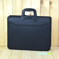 Wholesale Briefcase Metal - Wholesale- Business custom A4 zipper Men Briefcase Document Bags High capacity Portable File folder a case for documents  filing