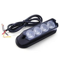 Wholesale Emergency Lights For Trucks - Car Truck Emergency Strobe Flash Light Auto Warning Lights with Amber White Light Water Resistant Safe for Exterior Mounting