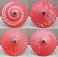 Wholesale National Handicraft - Red Japanese Cherry handicrafts, oil paper umbrella   cartoon cos umbrella   Mid Autumn Festival National Day restaurant, shop decoration um