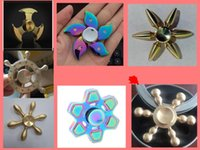 Wholesale Balls Premiums - copper Fidget Spinner by Premium Quality Tri Spinner with High quality steel ball Bearing Perfect for EDC ADD Anxiety Autism and Boredom