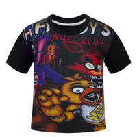 ayı kıyafeti toptan satış-110-150 cm Teddy bear's beş gece harem 5 at Freddy giymek karikatür T-shirt kısa kollu çocuk boys boys satılık 4-13 yıl