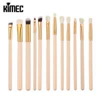 Wholesale Faces Brushes - 12pcs Rose Eye Make-Up Brushes Makeup Brushes Set Eyeliner Face Foundation Blush Lip Liquid Cream Powder Cosmetics Blending