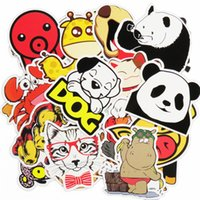 Bricolage Décoration De Moto Pas Cher-50 Pcs Cute Animal Car Autocollants Hot sale Home Decor Toy Styling Télévision Autocollant Laptop Motorcycle Skateboard Doodle Sticker DIY