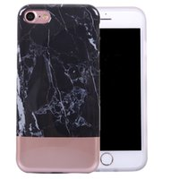 Wholesale Iphone Soft Glossy Case - Electroplated Marble Flexible Soft TPU Case Cover with Fabulous Glossy Pattern for iPhone 7 6s 6 plus Opp Bag