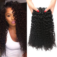 Vérin Brésilien En Gros Bouclés Pas Cher-Prix ​​de gros de l'usine KINKY Curly Wave Brazilian Péruvien Malaysian Virgin Hair Weave Cheap Deep Curl Remy brésilien Hair Extensions