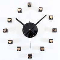 moderno diy decorativo d reloj de pared de espejo de acrlico de cuarzo pared pegatinas relojes