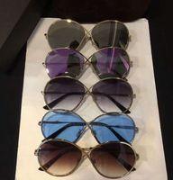 Wholesale Tom New Cat - Women Designer TOM Gold Brown Gradient Sunglasses MOD 0564 Fashion Brand Sunglasses New with Box