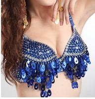 Wholesale Latin Dance Show - Nightclub bra The stage dress Latin dance Indian dance underwear bra show costumes nightclub DS gather sequins bra
