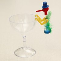 Wholesale Novelty Dippy Drinking Bird - Wholesale- New Novelty Dippy Drinking Bird With Plastic Glass Best Gift Model Toys Kit For Children Kids